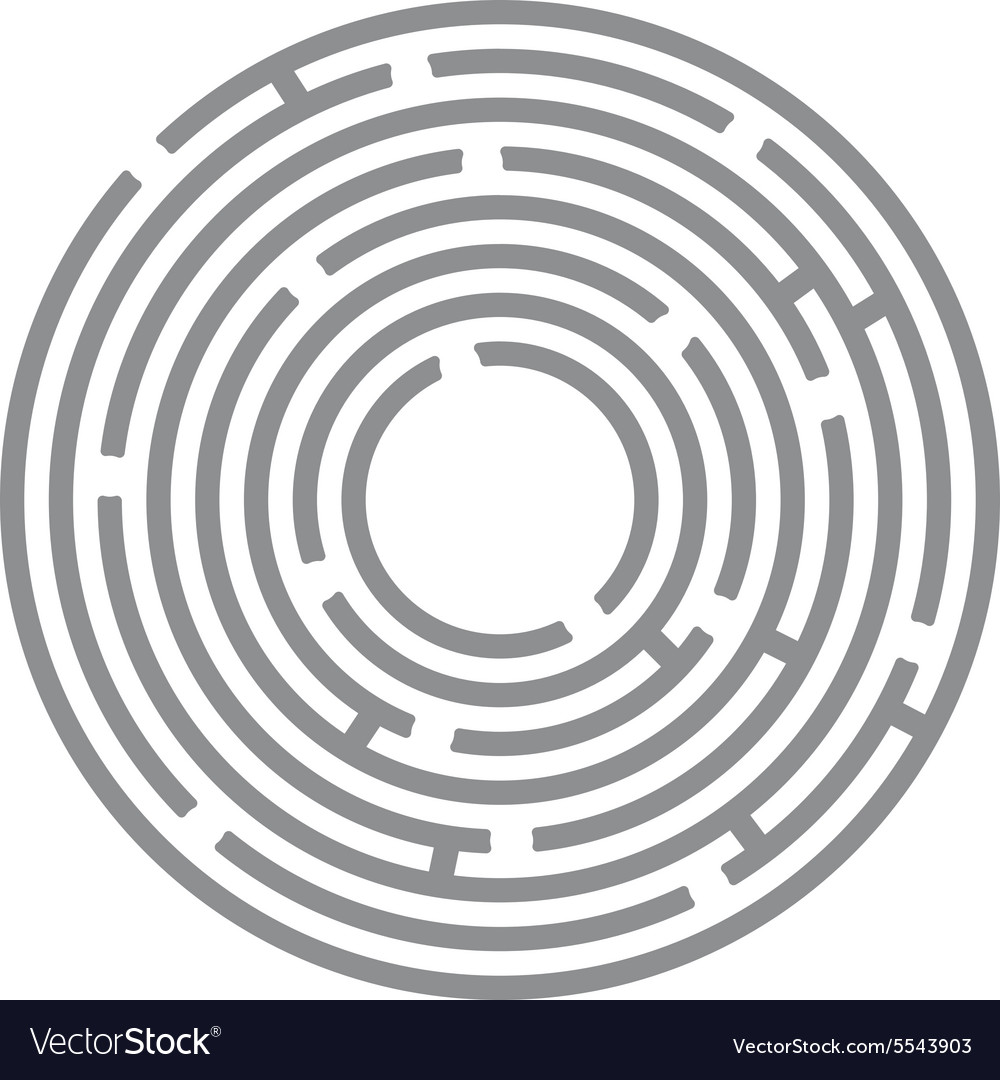 Abstract futuristic maze gray circles on white vector