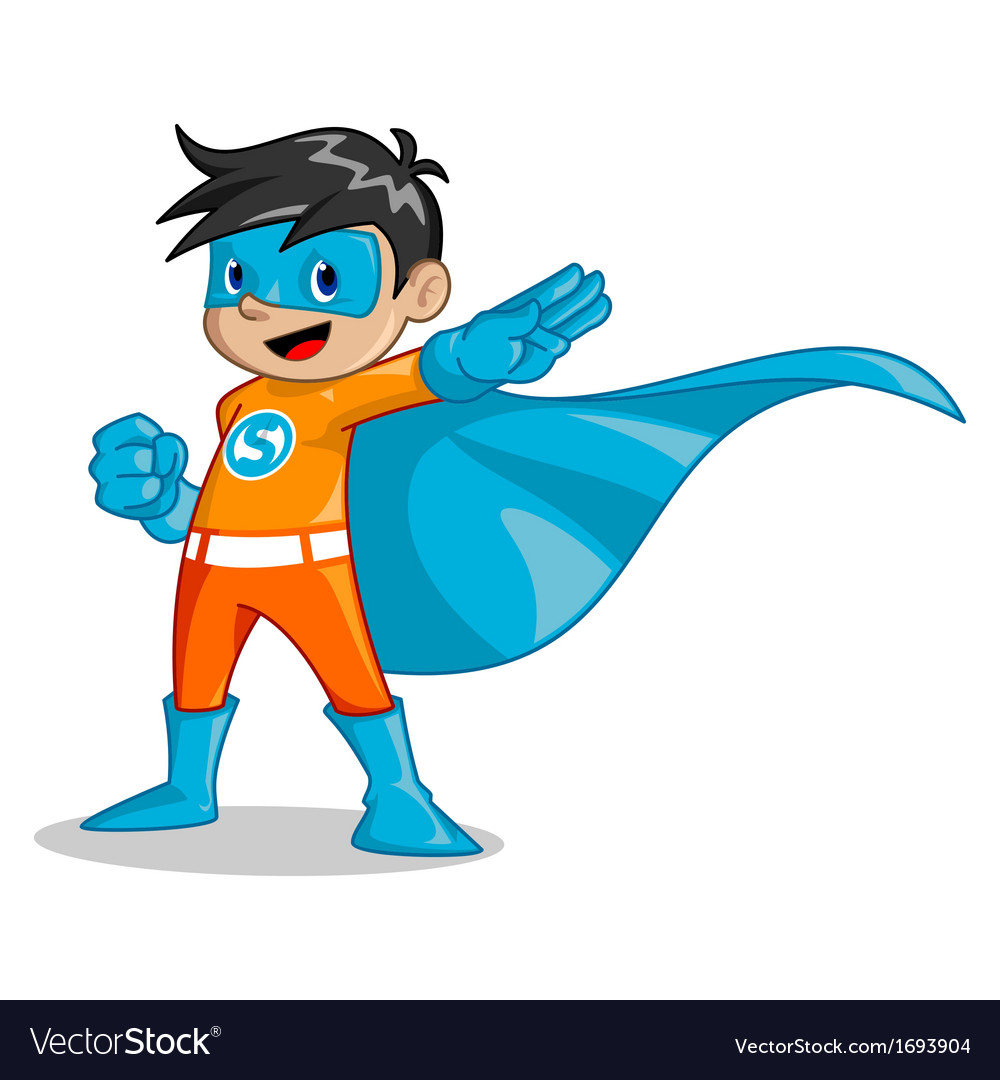 Super kid vector