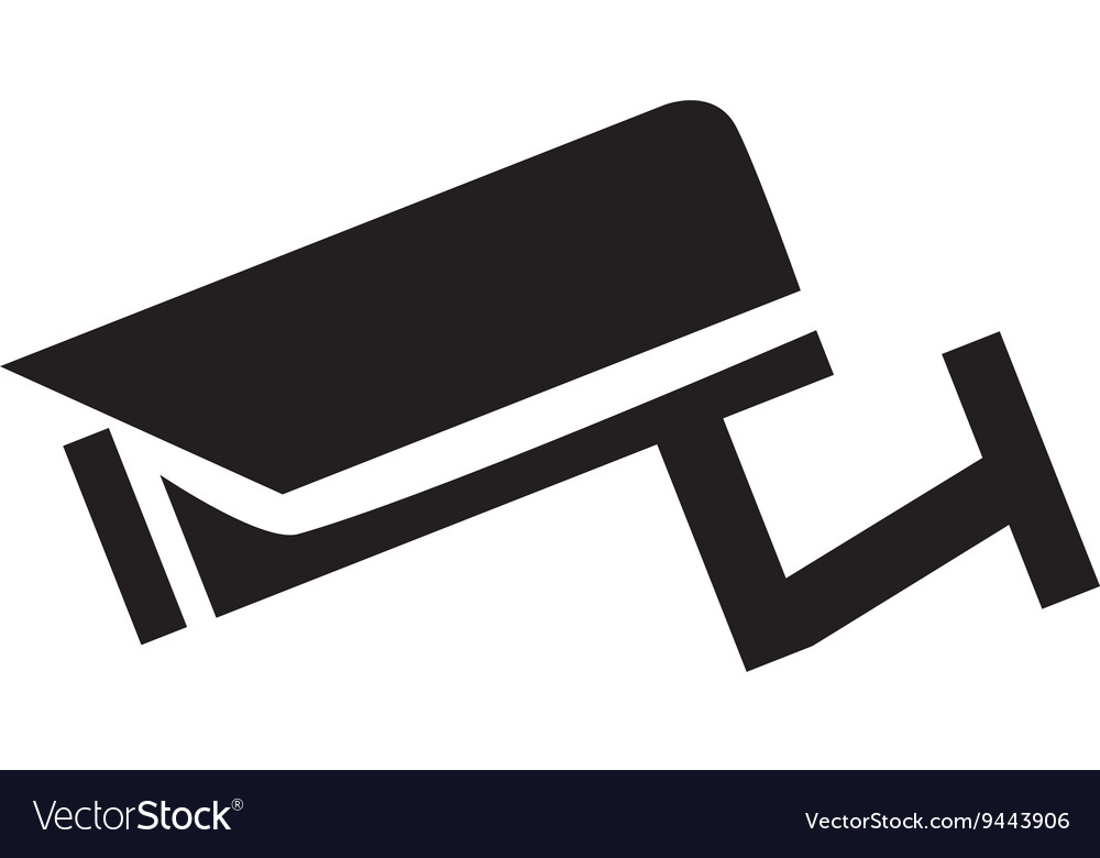 Surveillance camera icon vector