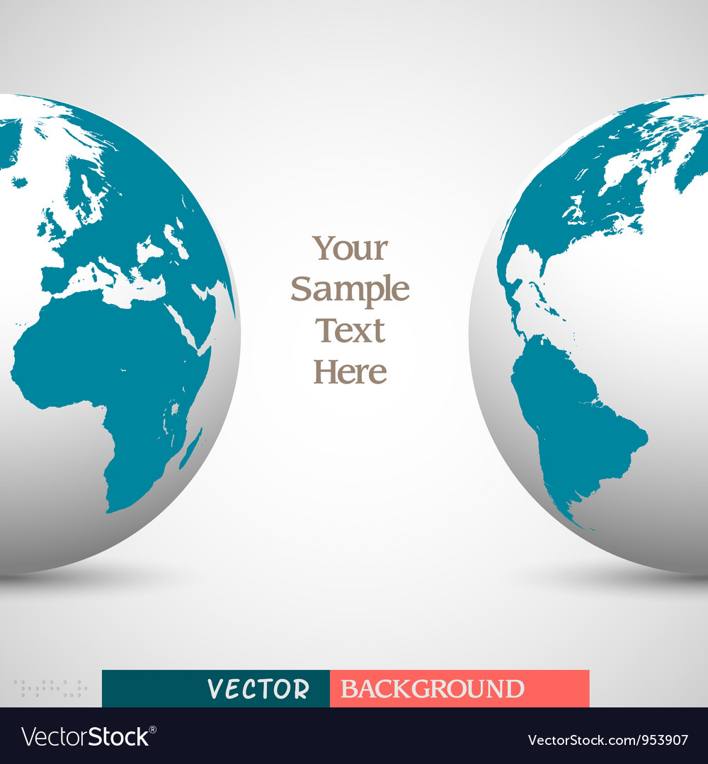 Creative business background with globe vector