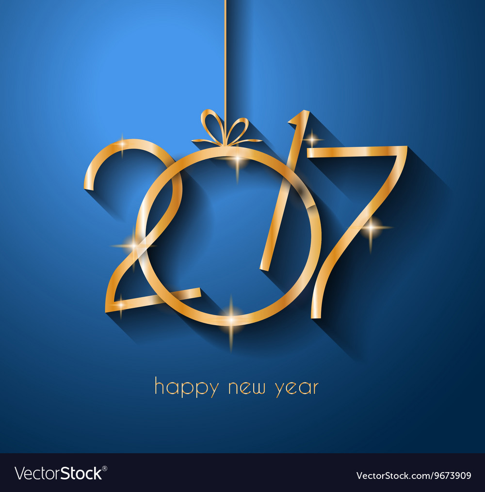 2017 happy new year background for your flyers and vector