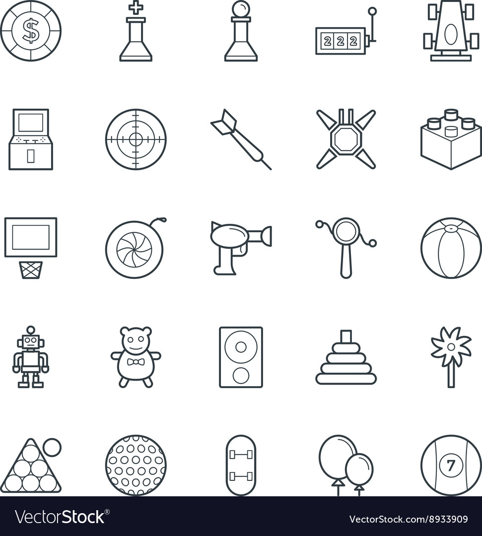 Gaming cool icons 3 vector