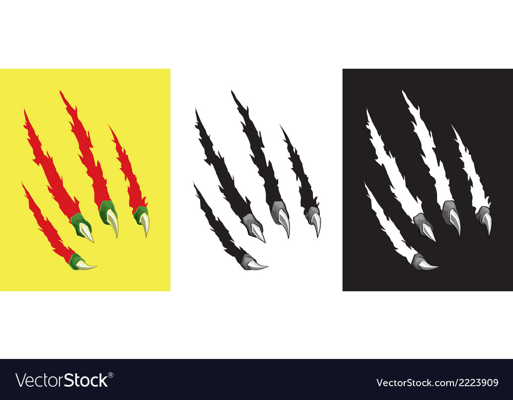 Scratch claw hole set vector