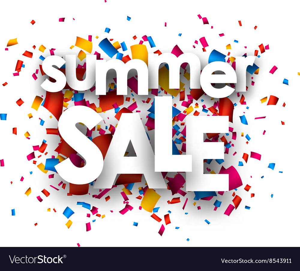 Summer sale paper background vector