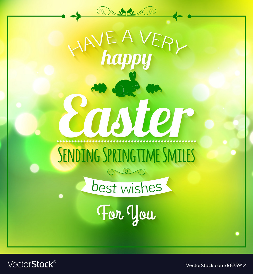Happy easter typographical background easter  vector
