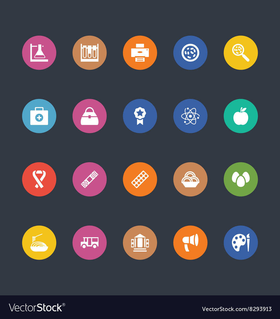 Glyphs colored icons 37 vector