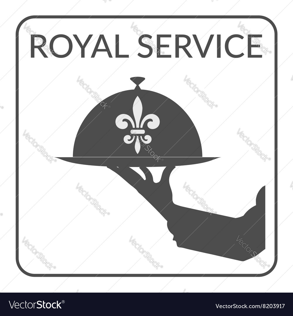 Royal service sign vector
