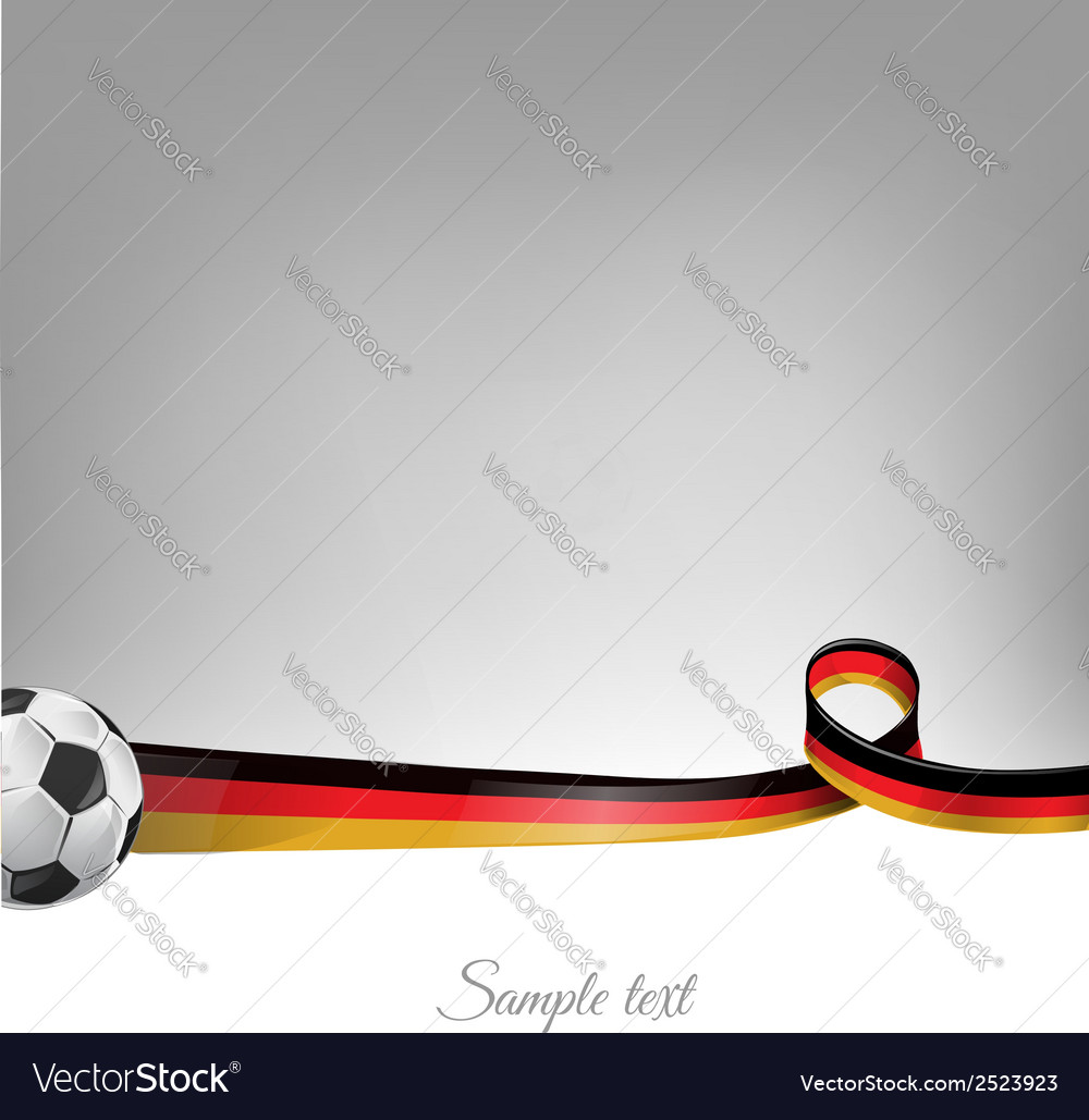 Germany background with soccer ball vector