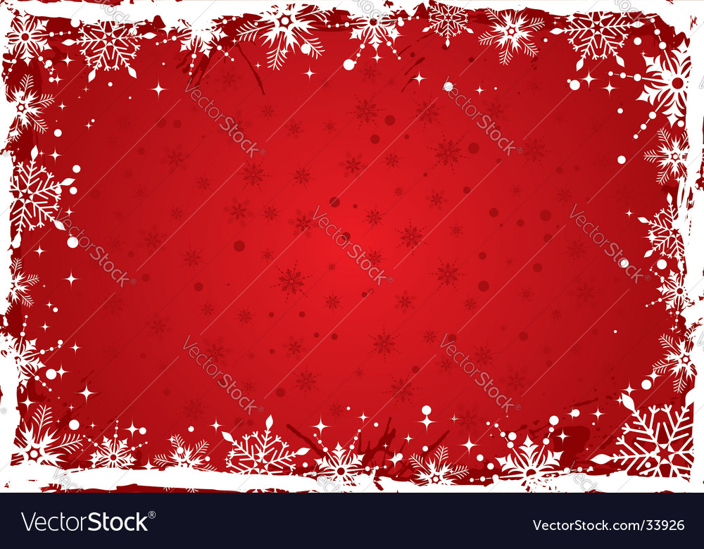 Christmas background boarder vector