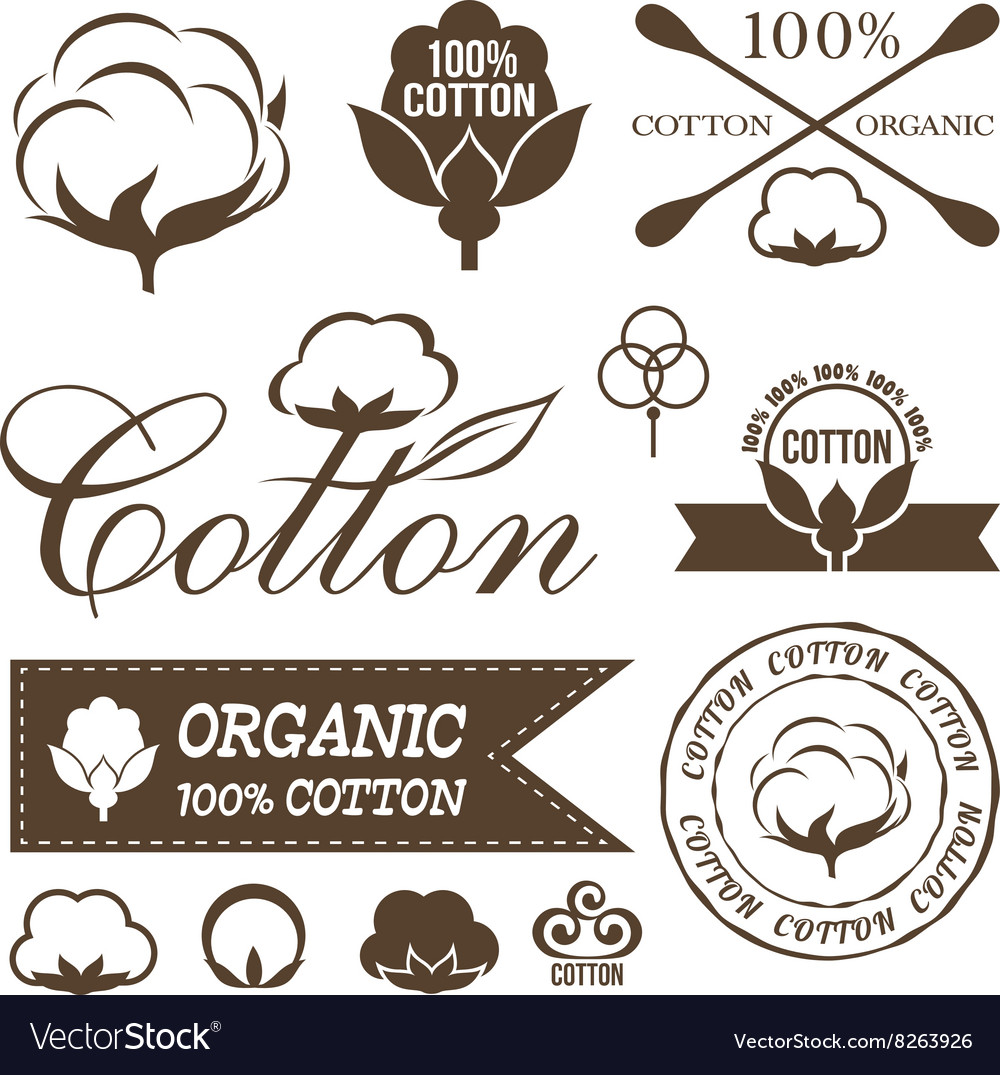 Cotton decoration elements vector