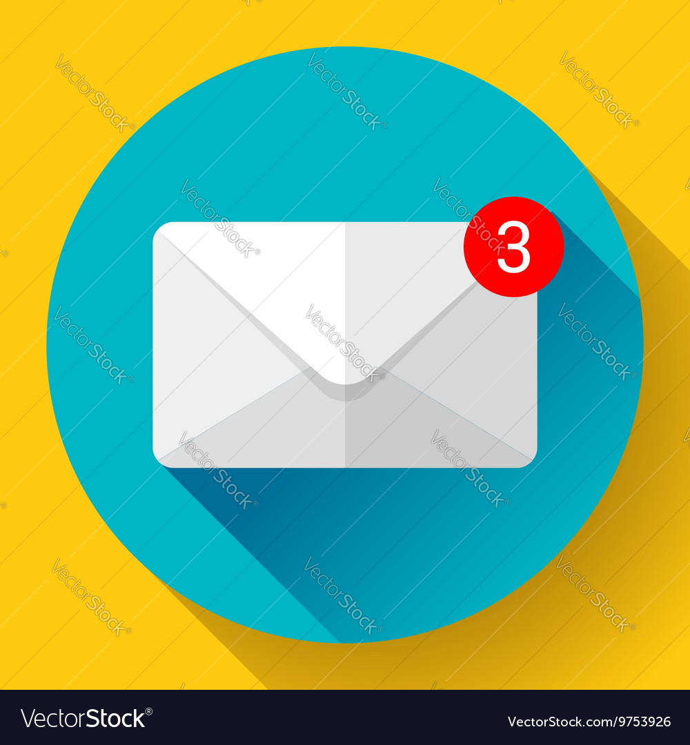 Envelope mail icon new letter sms message vector