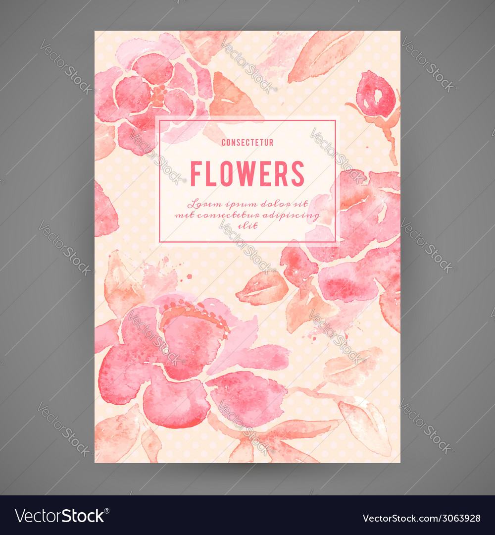 Background with peony flowers in vector