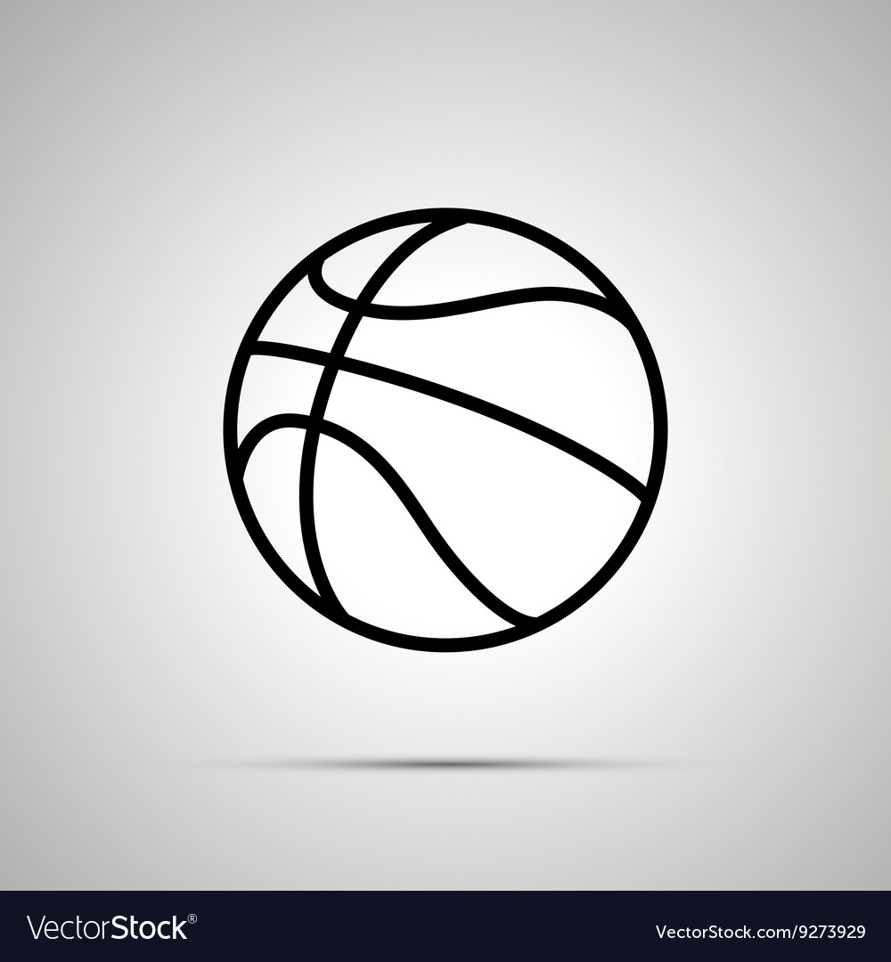Basketball ball simple black icon vector