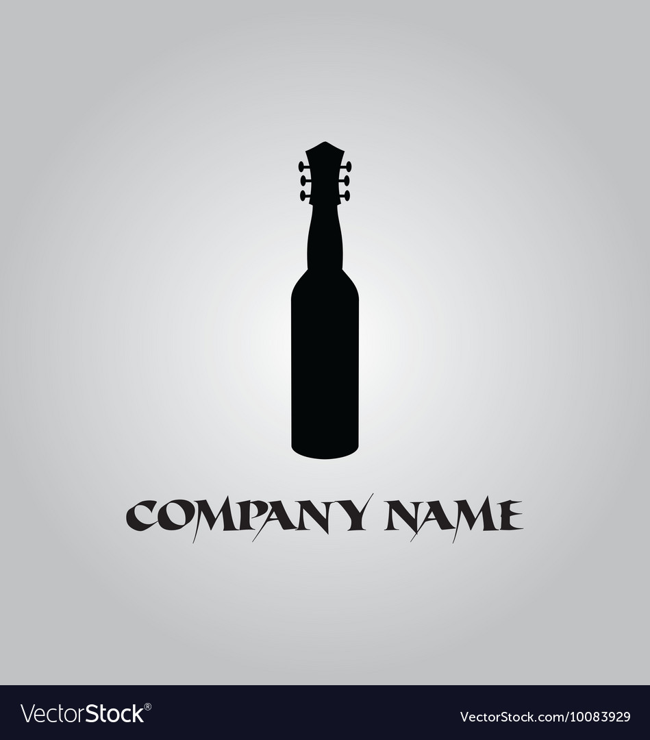 Wine guitar logo vector