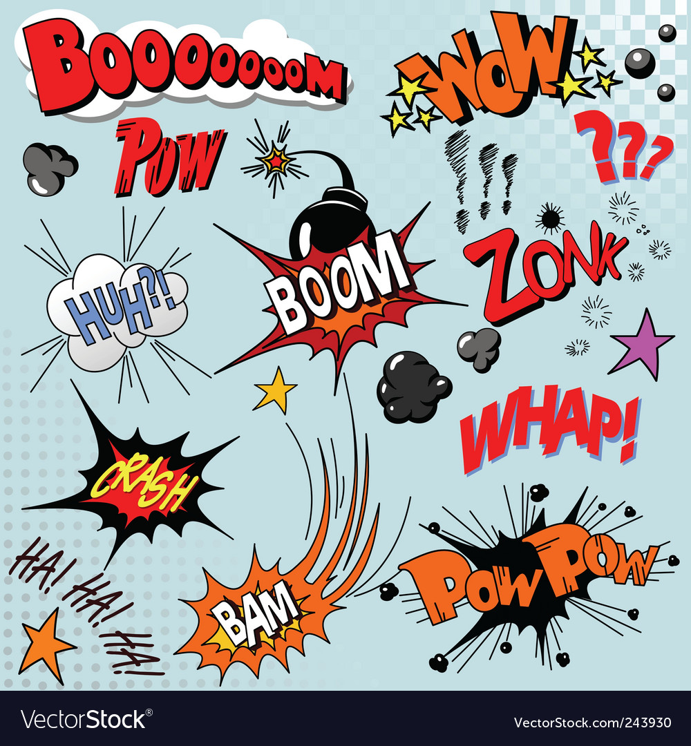 Comic book explosion vector