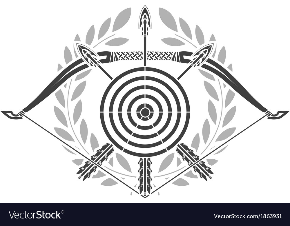 Glory of archery vector