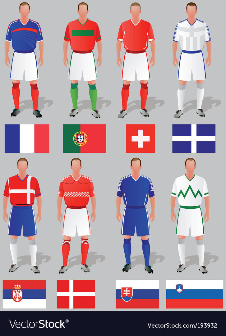 Soccer world cup basket vector