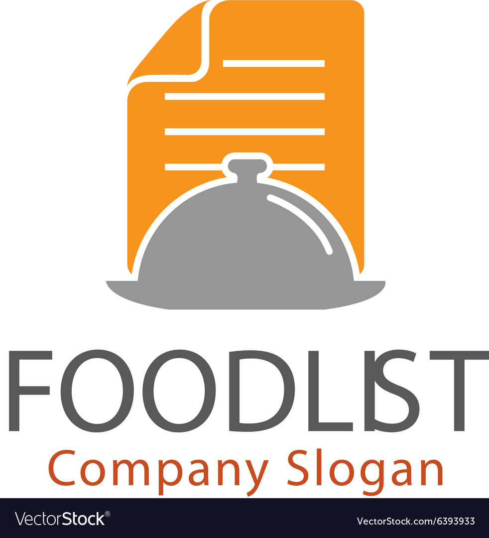 Food list design vector