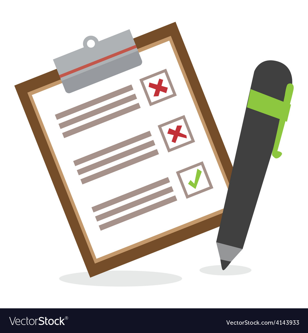 Survey design vector
