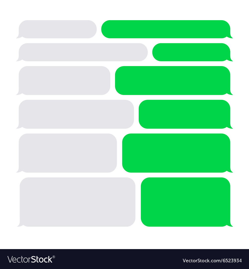 Smartphone sms chat bubbles constructor set vector
