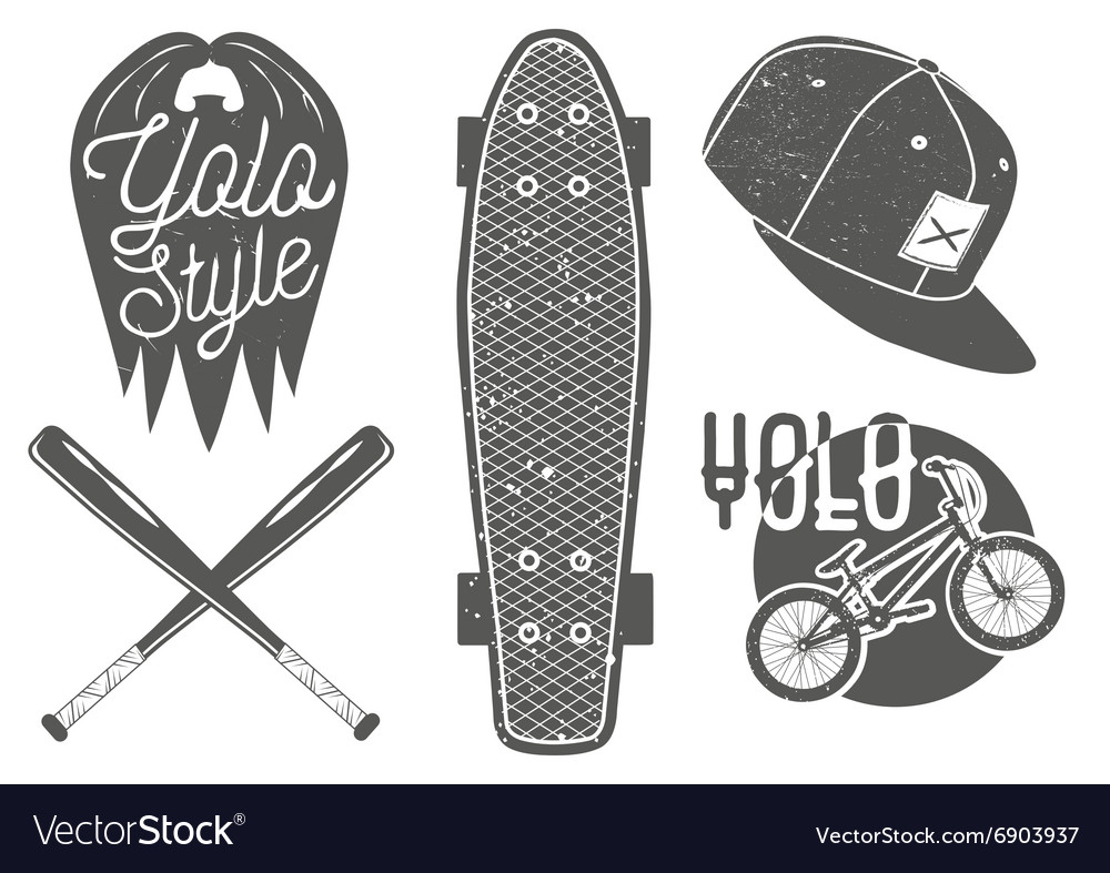 Set of vintage sport labels emblems logo vector