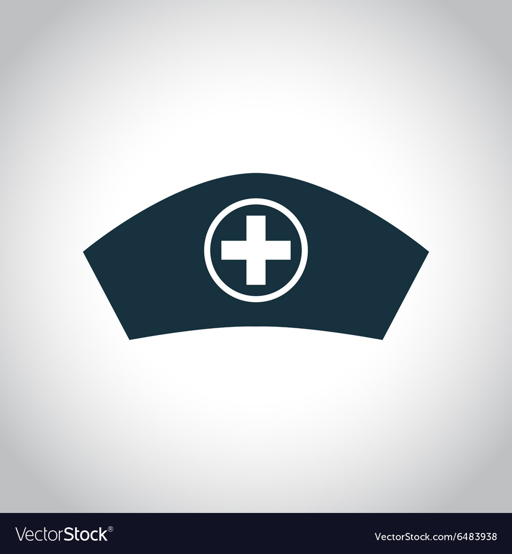 Hospital nurse head icon vector