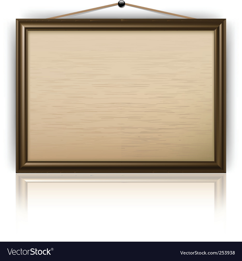 Notice board vector