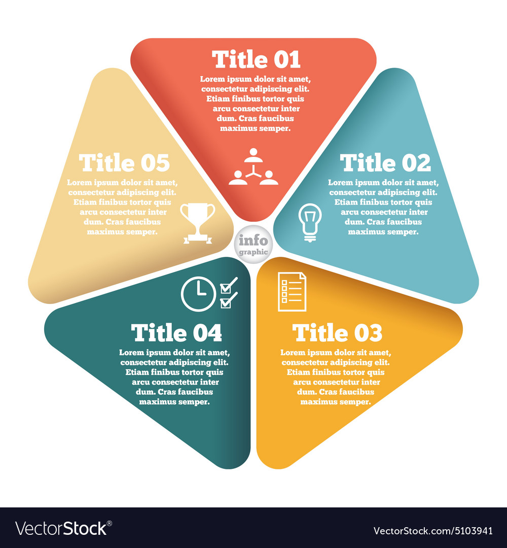 Business circle info graphic diagram vector