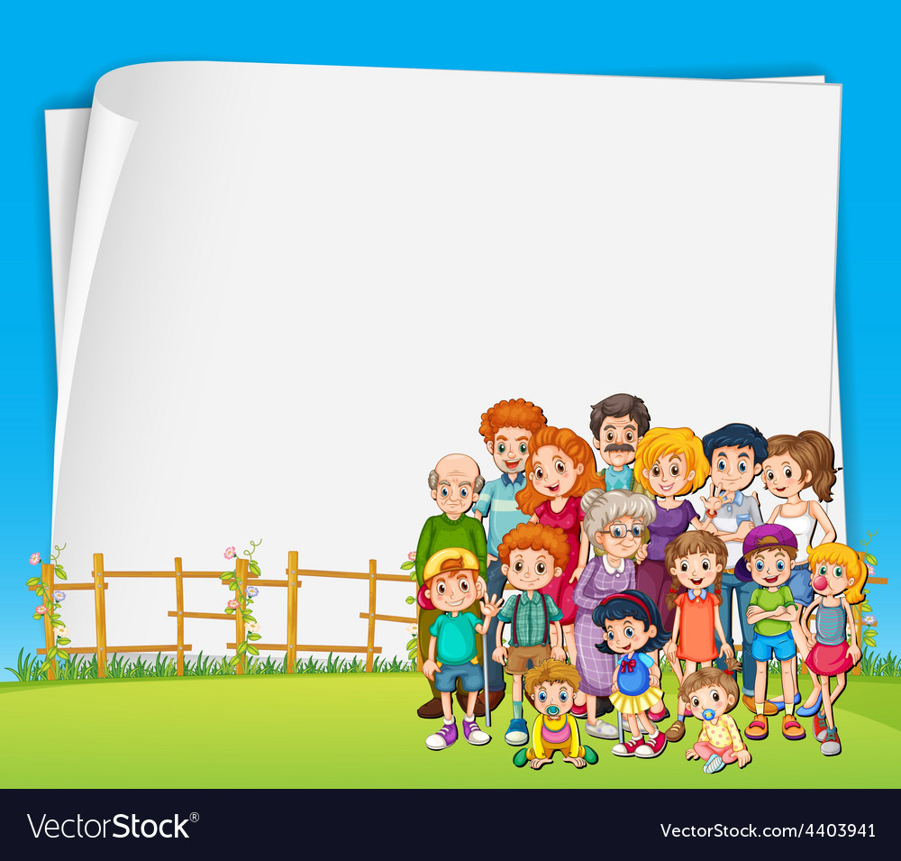 Sign and family vector