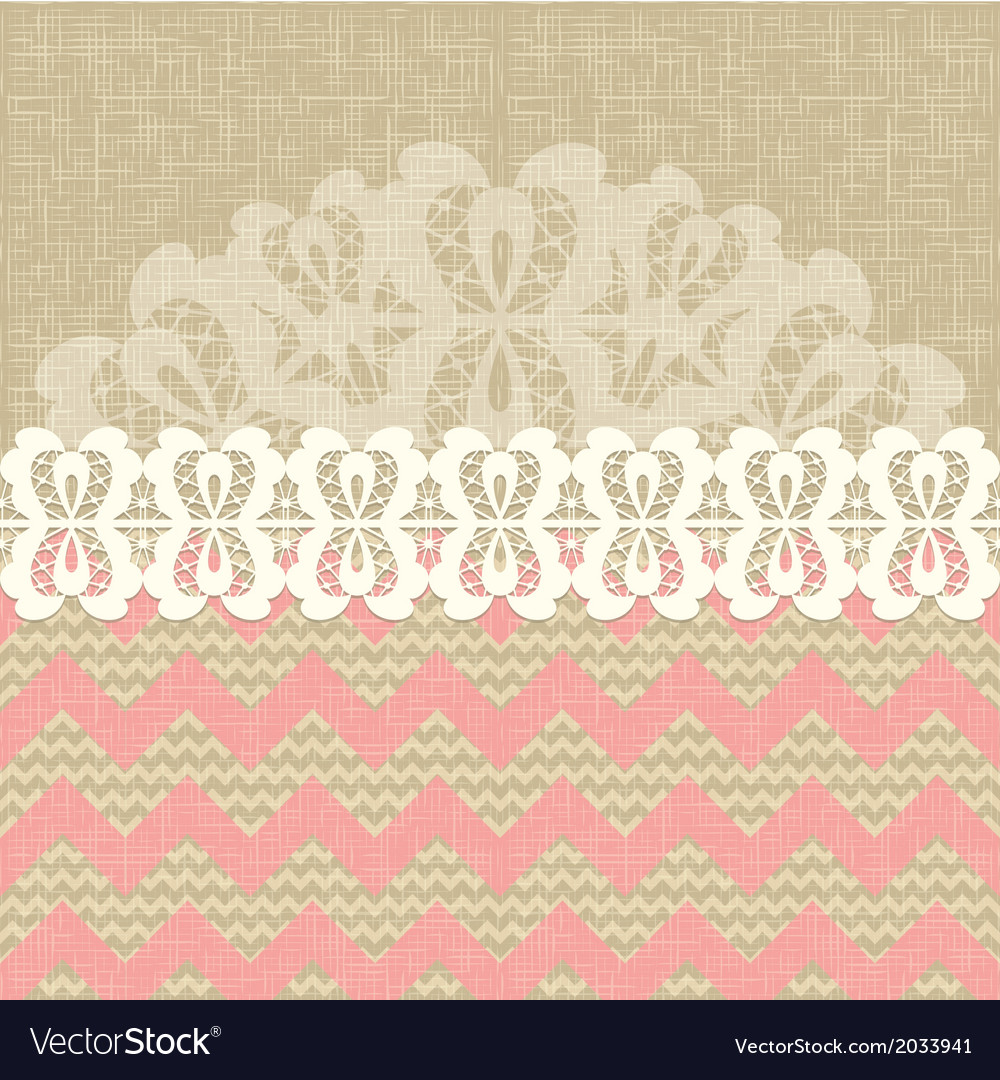 Two seamless pattern and lace trim vector