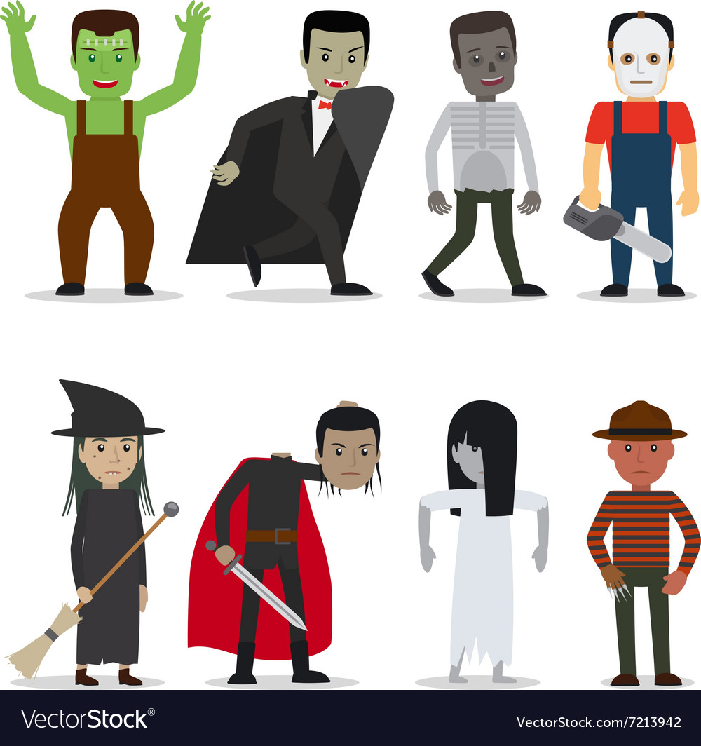 Horror characters vector