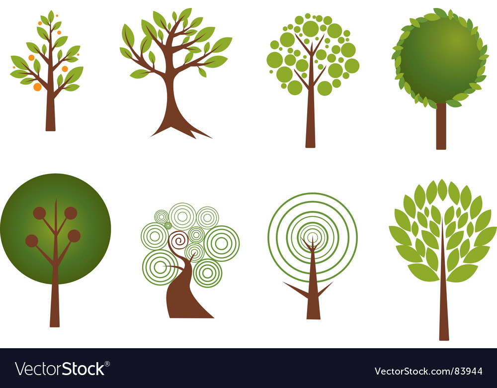 Trees vector