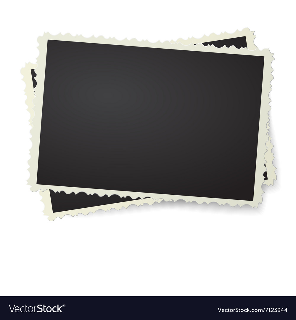 Two photo in retro frame isolated vector