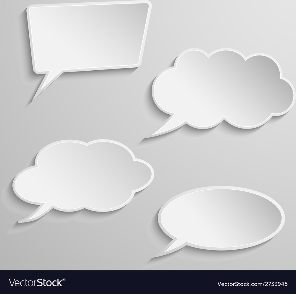 Set of four thought bubbles vector