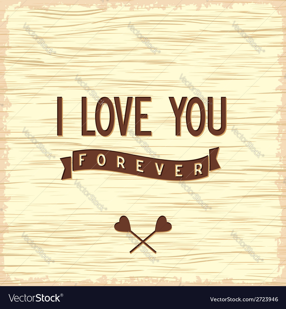 Love quote poster flat design vector