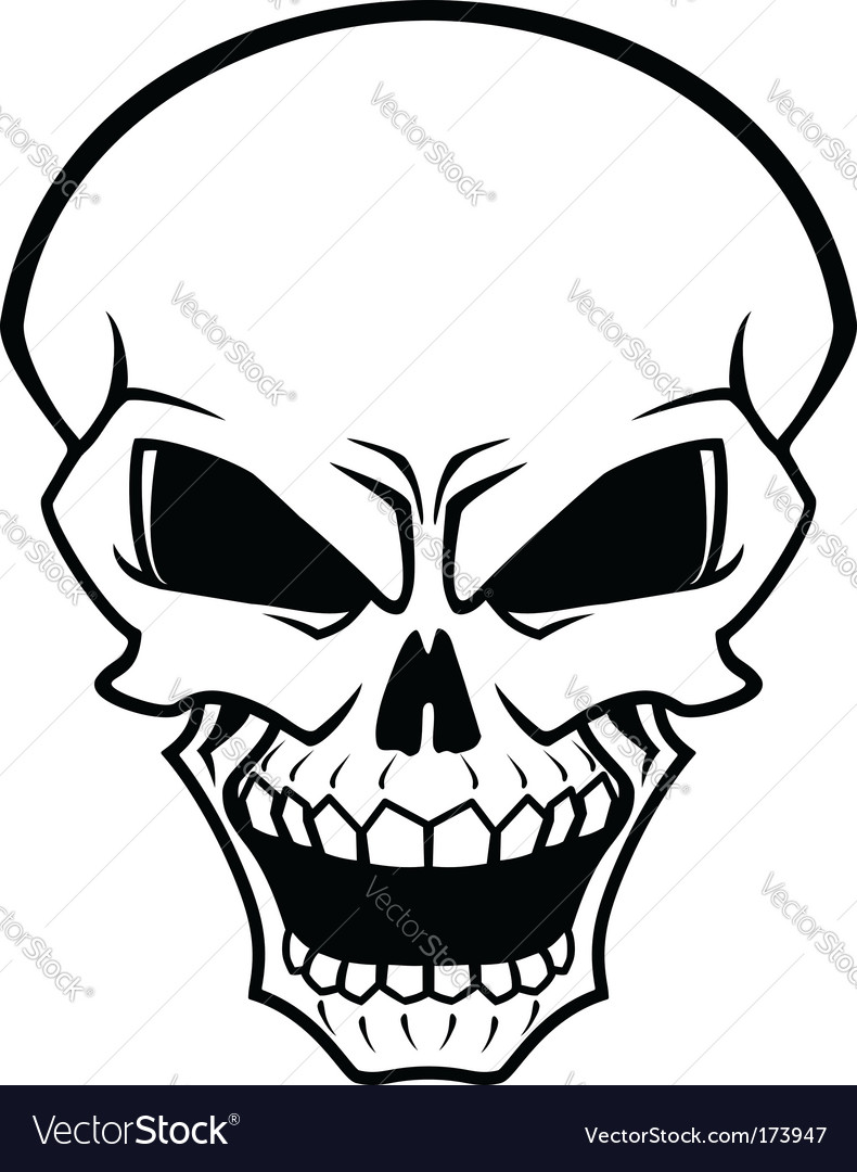 Danger skull vector