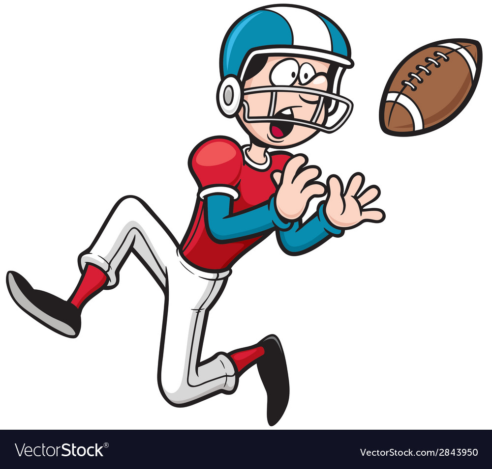 American football player vector