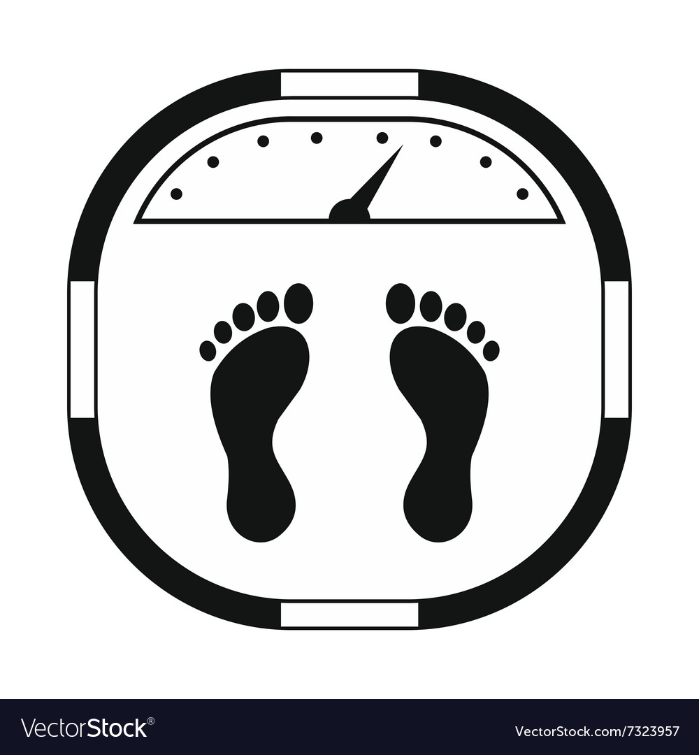 Weight scale black simple icon vector