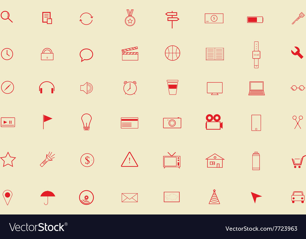 Icons for different purposes vector