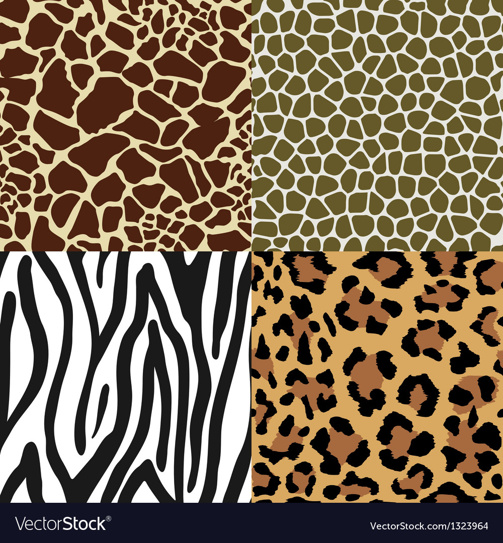 Animal skin patterns vector