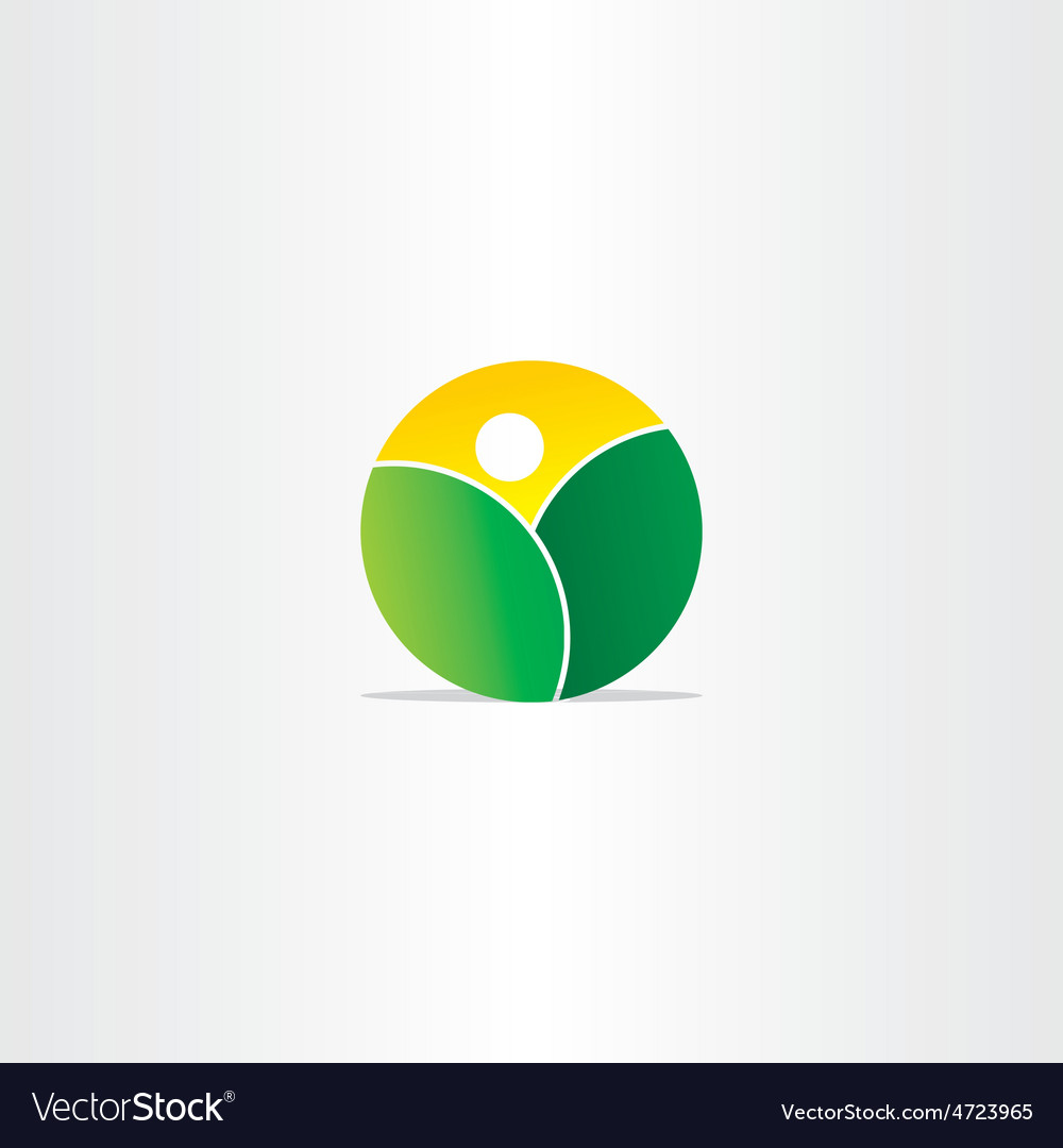 Fresh nature mountains and sun icon vector