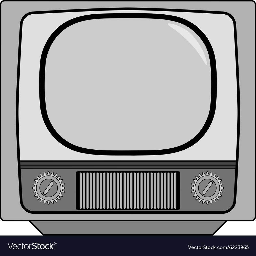 Vintage tv set vector