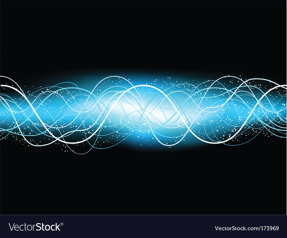 Electric blue background vector