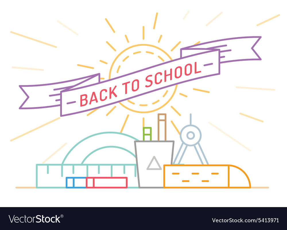 Back to school education books university and vector