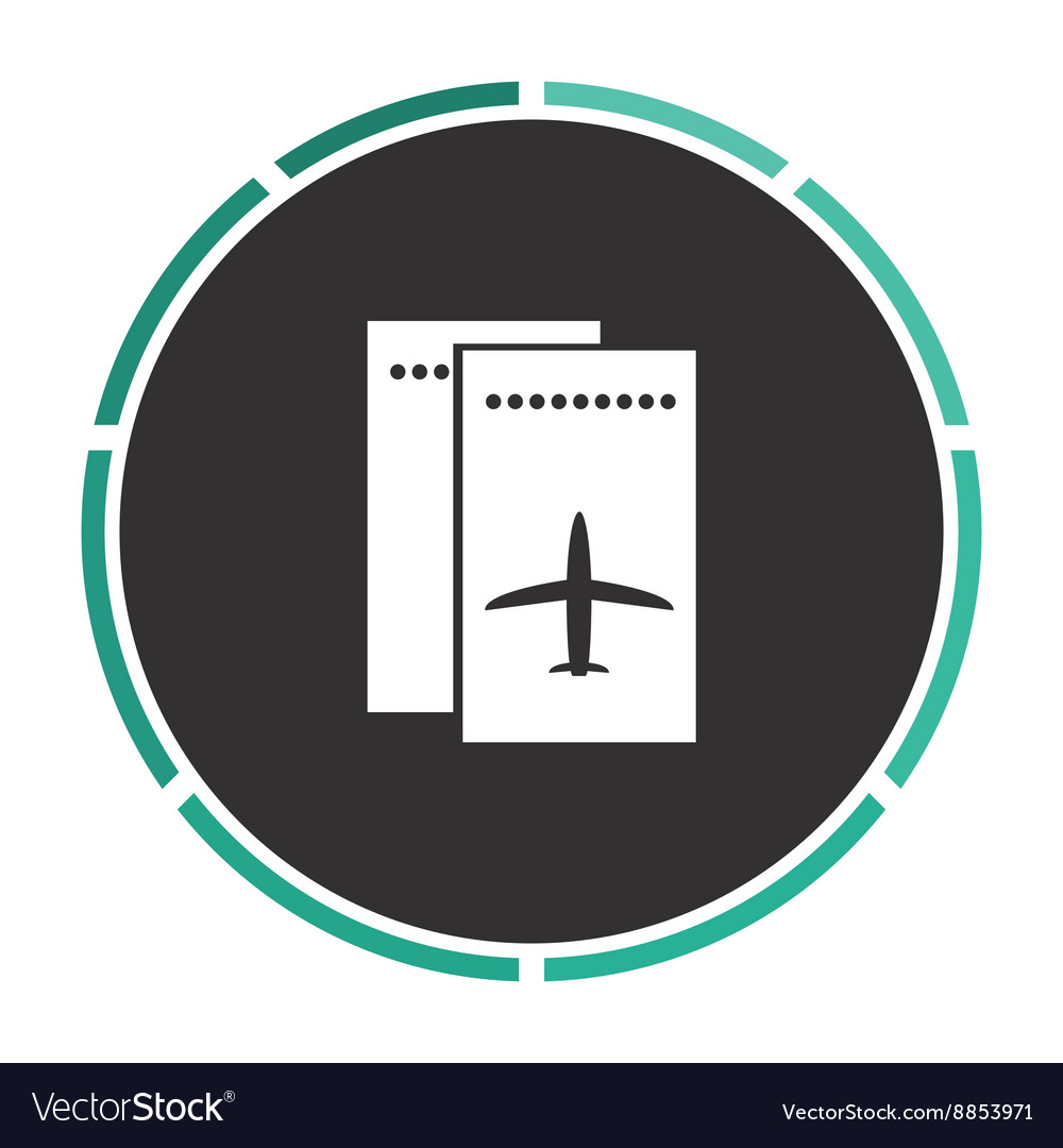 Ticket plane computer symbol vector
