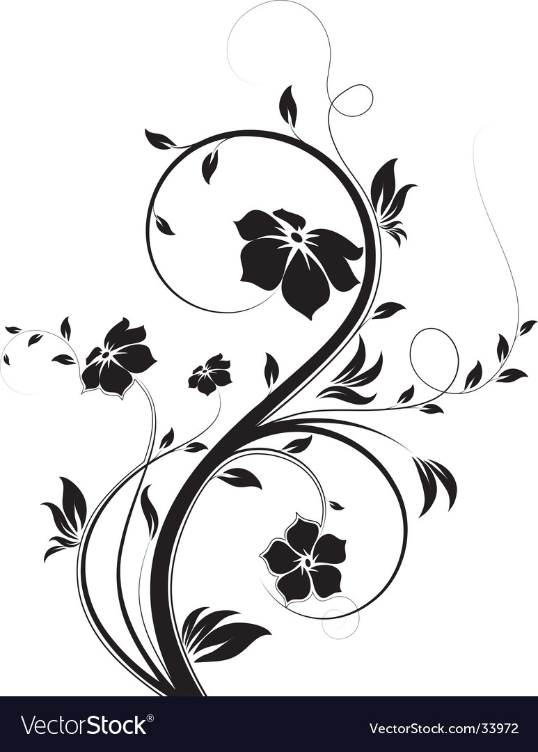 Floral abstraction vector