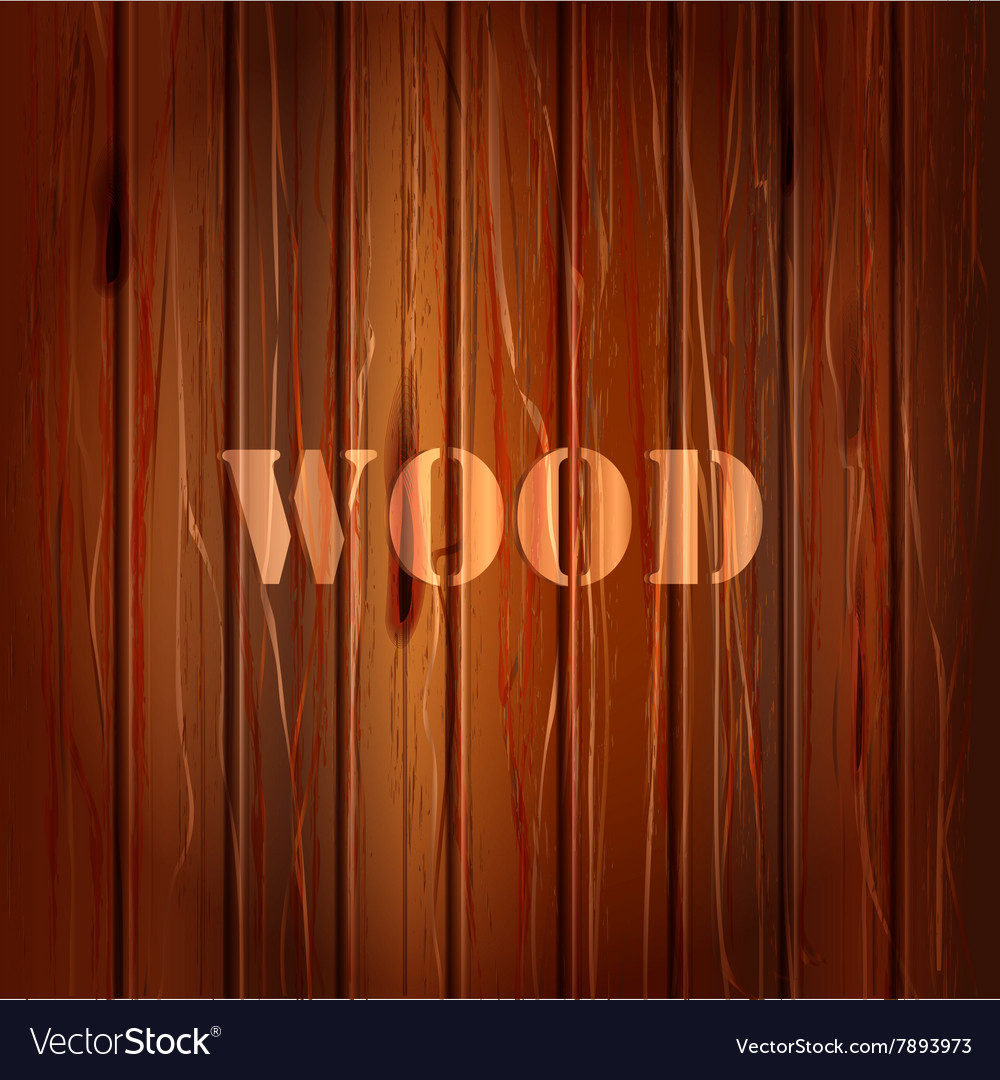 Brown wood texture background with text vector