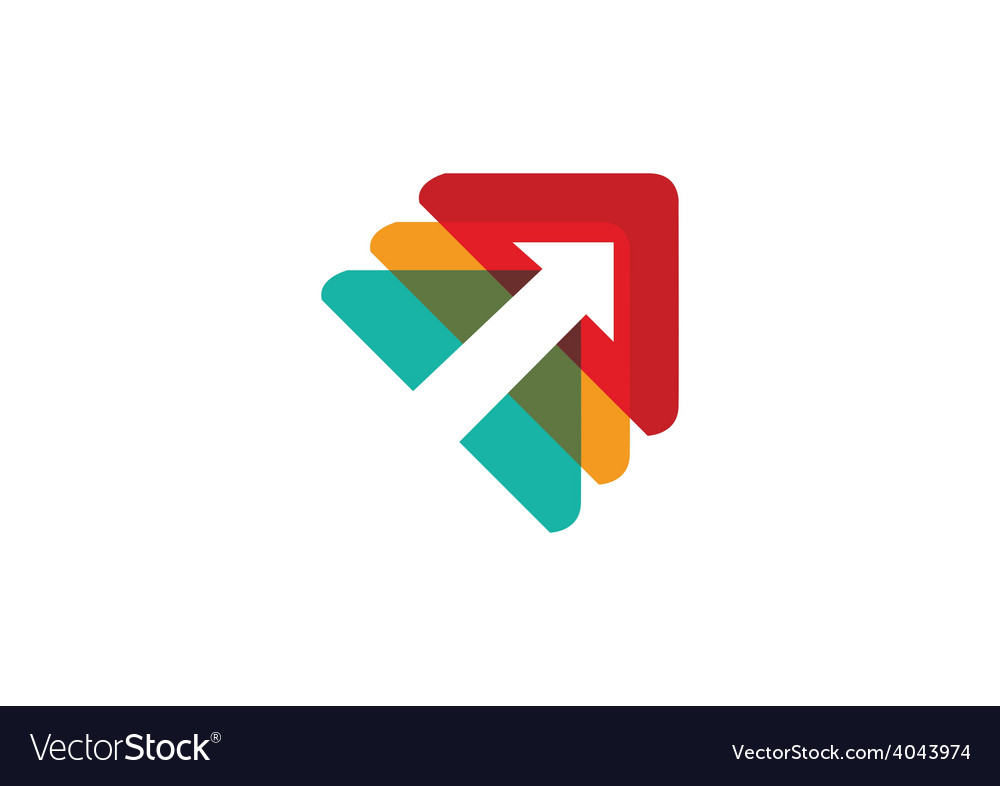 Arrow triangle design element business logo vector