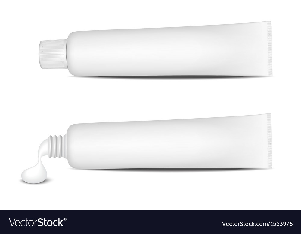 Toothpaste tube vector