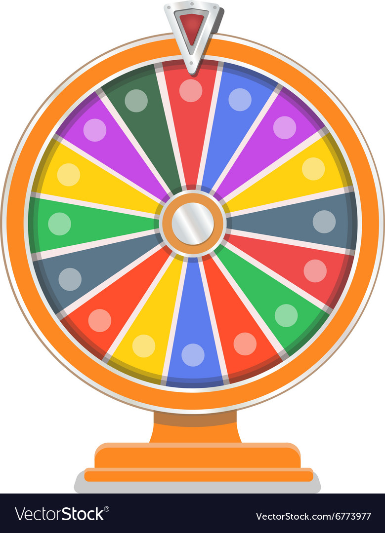 Wheel of fortune flat design template vector
